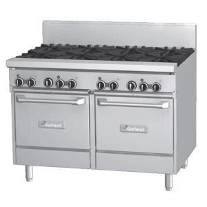 Garland GF48-2G36LL 2 Burner 48 inch Gas Range with Flame Failure Protection, 36 inch Griddle, and 2 Space Saver Ovens