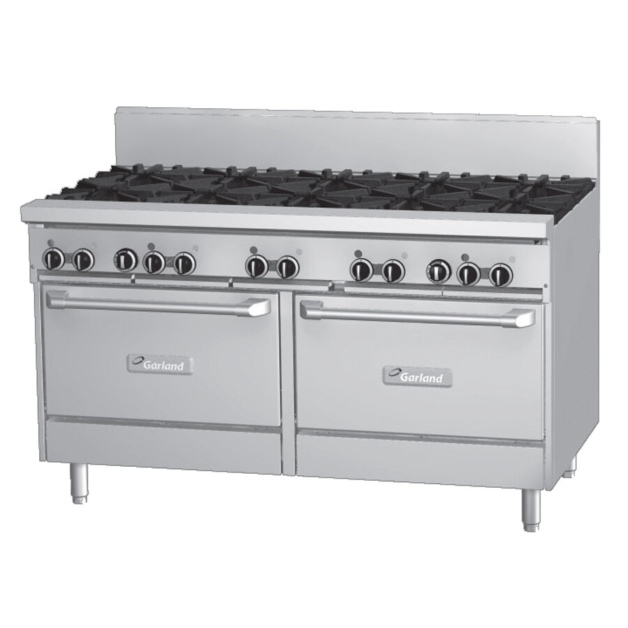 Garland GF60-10RR 10 Burner 60 inch Gas Range with Flame Failure Protection and 2 Standard Ovens