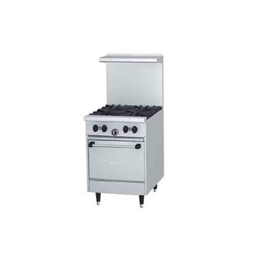 U.S. Range U24-4L 4 Burner Gas Range with Space Saver Oven