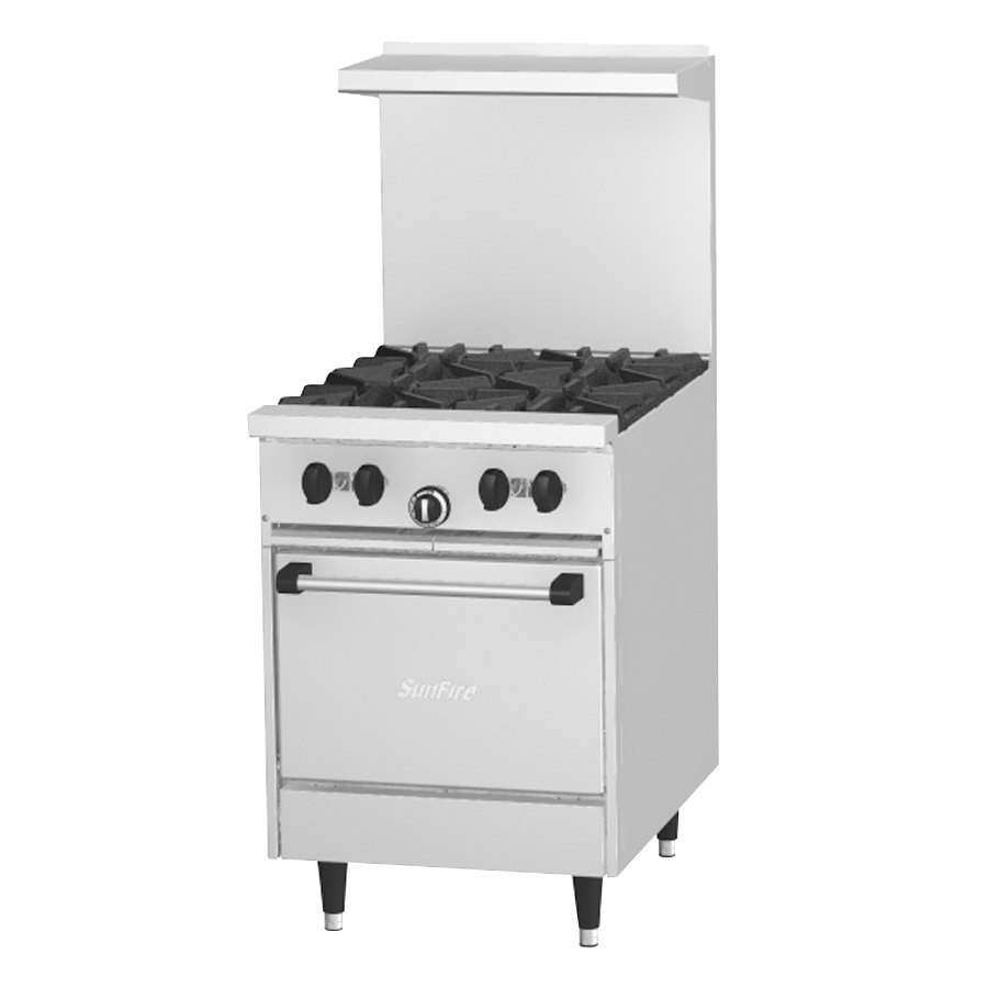 Garland X24-4L SunFire 4 Burner Gas Range with Space Saver Oven