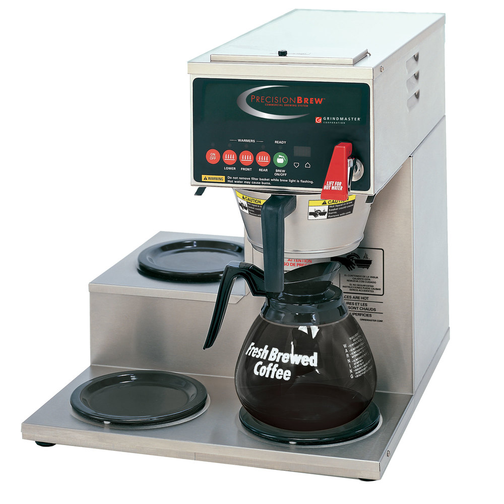 Electronic Coffee Machines Industrial commercial automatic coffee maker machine brewer with 3 warmers