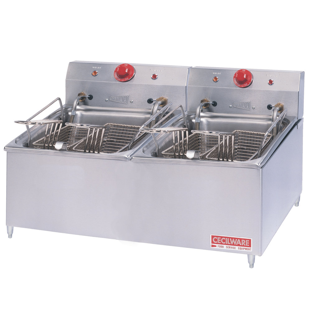 Electric Deep Fryer : Cecilware elt double stainless steel commercial