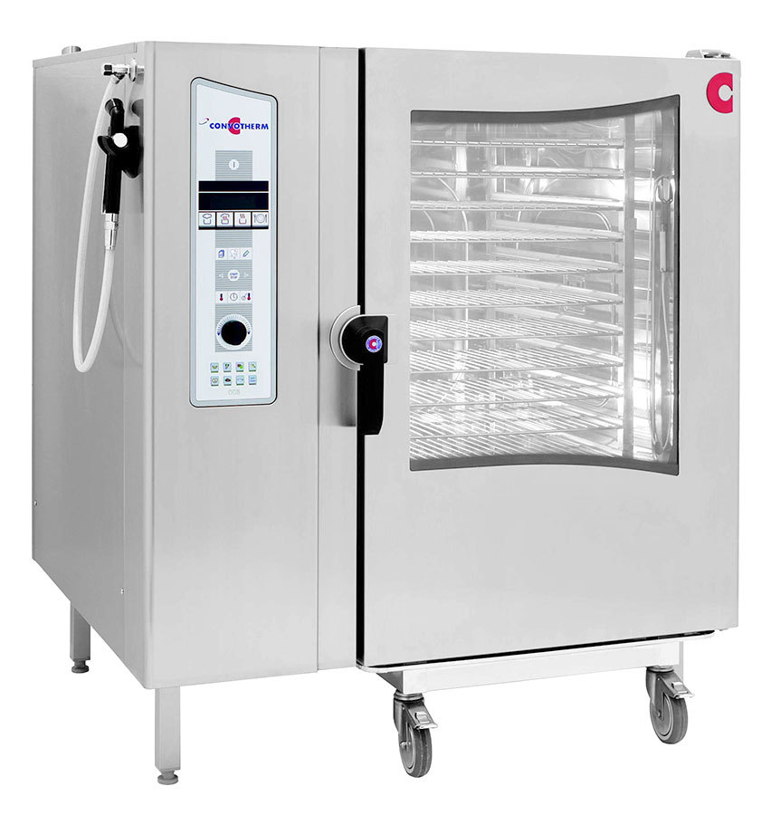 Cleveland Convotherm OEB-12.20 Roll-in Electric Combi Oven Steamer with Trolley