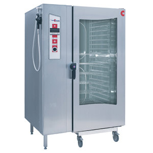 Cleveland Convotherm OGS-20.20 Roll In Gas-Fired Boilerless Combi Oven Steamer with Trolley