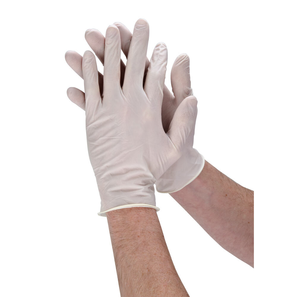 Noble Large Latex Powdered Gloves for Foodservice