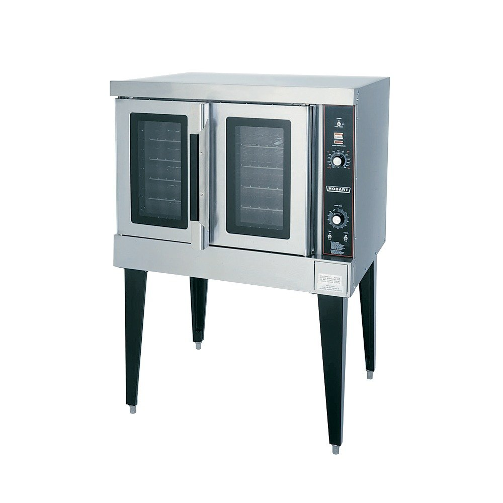 Hobart HEC502 Double Deck Full Size Electric Convection Oven - 12.5 kW