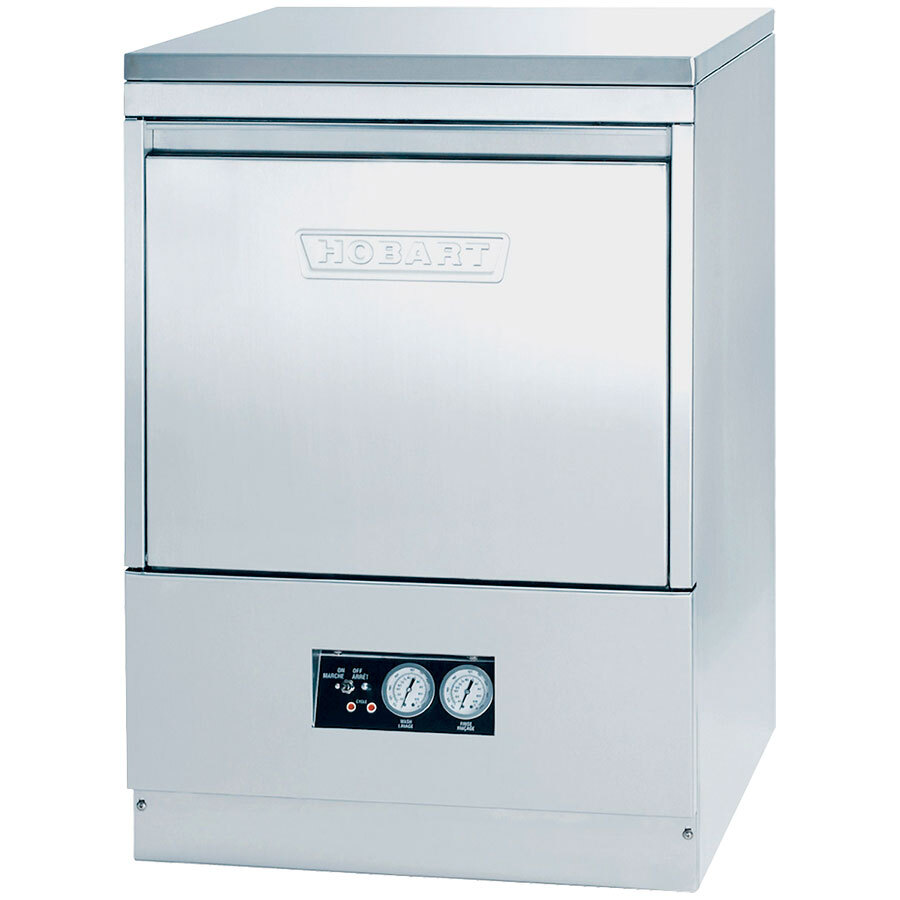 Hobart SR24H Undercounter Hot Water Dishwasher with Detergent Pump and Top and Side Panels