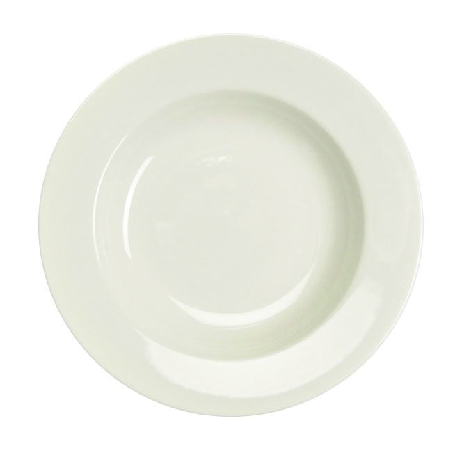 Homer Laughlin Rolled Edge 24 oz. American White (Ivory / Eggshell) China Pasta Bowl - 12/Case