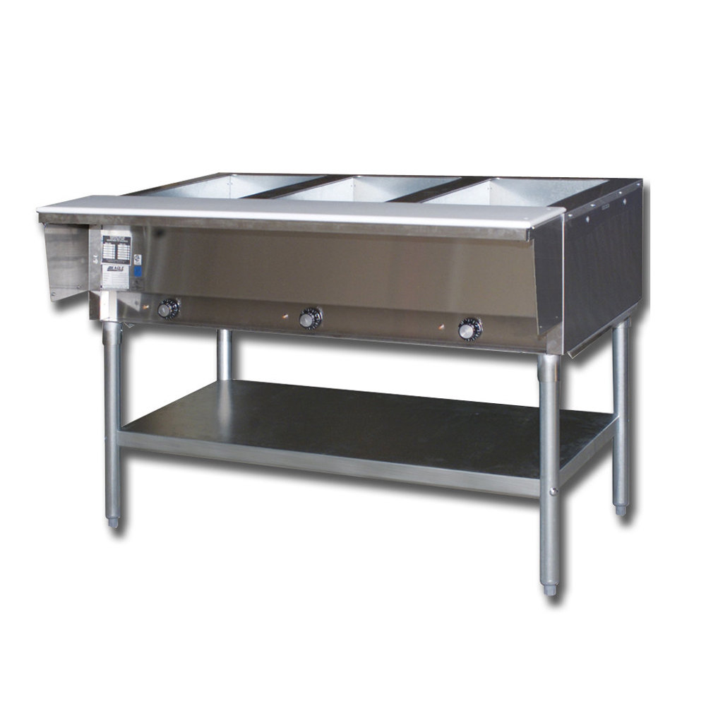 Stainless Steel Steam Table Spillage Water PanStainless Steel - Three well steam table