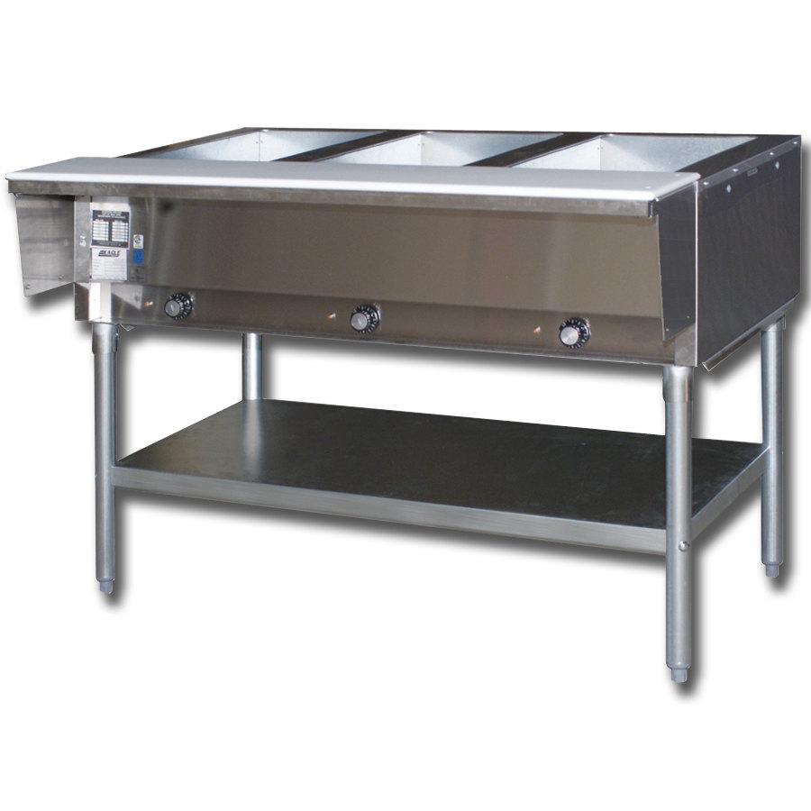 Eagle Group DHT3 3 Well Electric Hot Food Table - Open Well