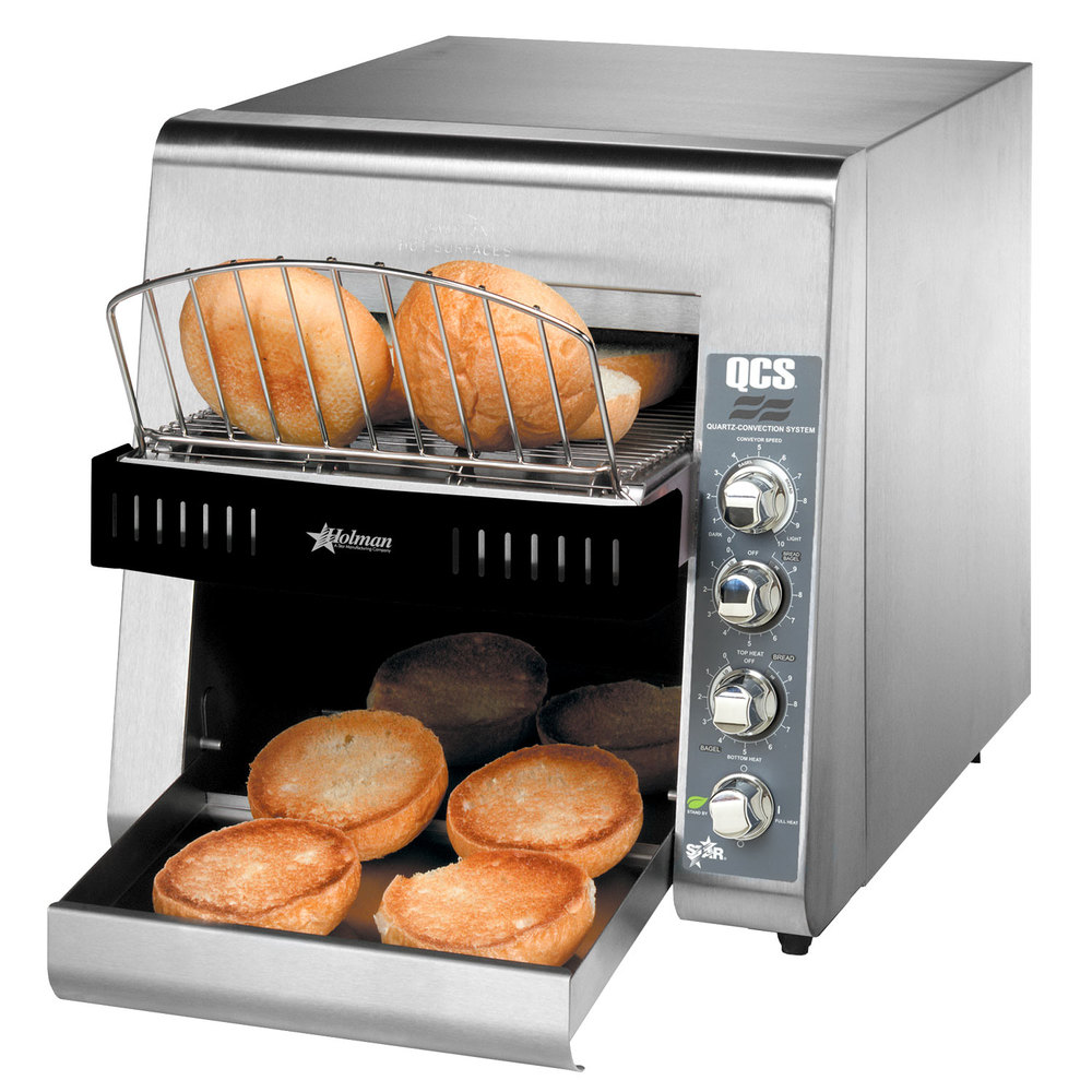 "Star Holman QCS2-600H Conveyor Toaster with 3"" Opening for Bagels"