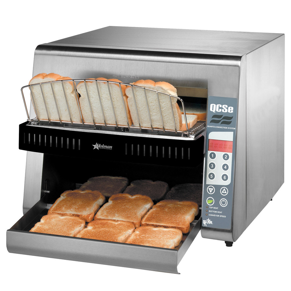 "Star QCSe3-1300 Conveyor Toaster with 1 1/2"" Opening and Electronic Controls"