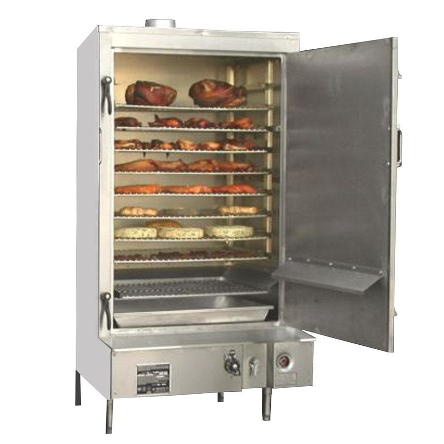 "Town SM-30-R-SS Indoor 30"" Stainless Steel Smokehouse with Right Door Hinges - 60,000 BTU"
