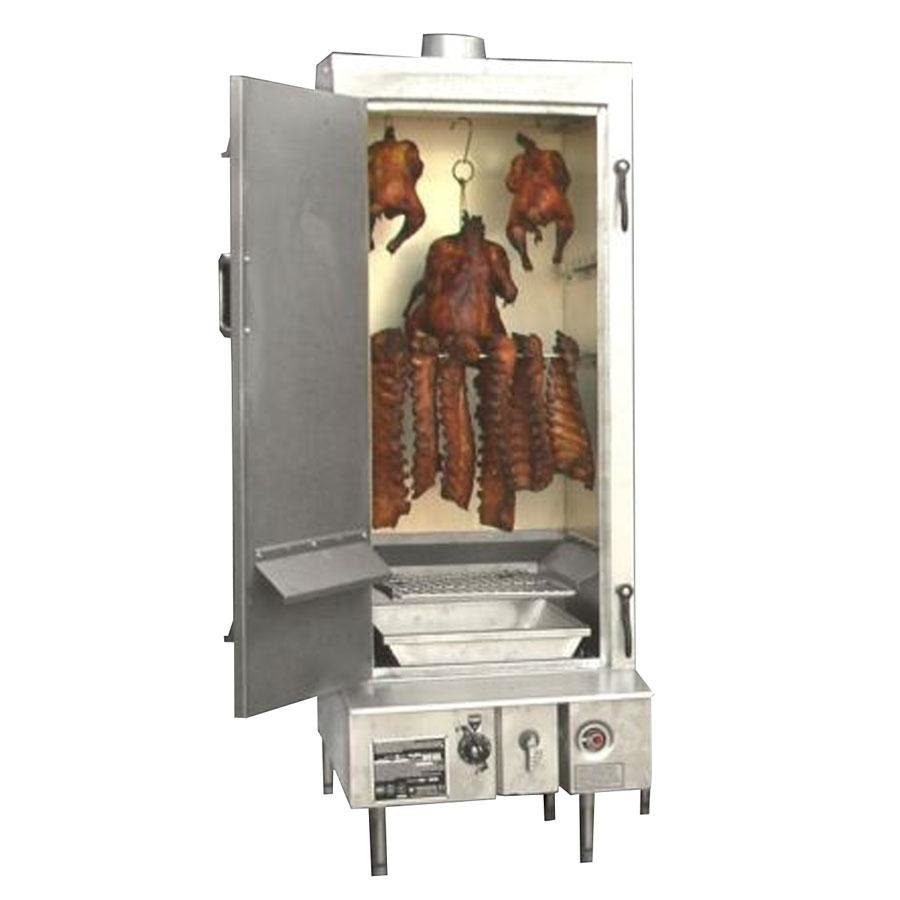 "Town SM-36-L-SS Indoor 36"" Stainless Steel Smokehouse with Left Door Hinges - 75,000 BTU"