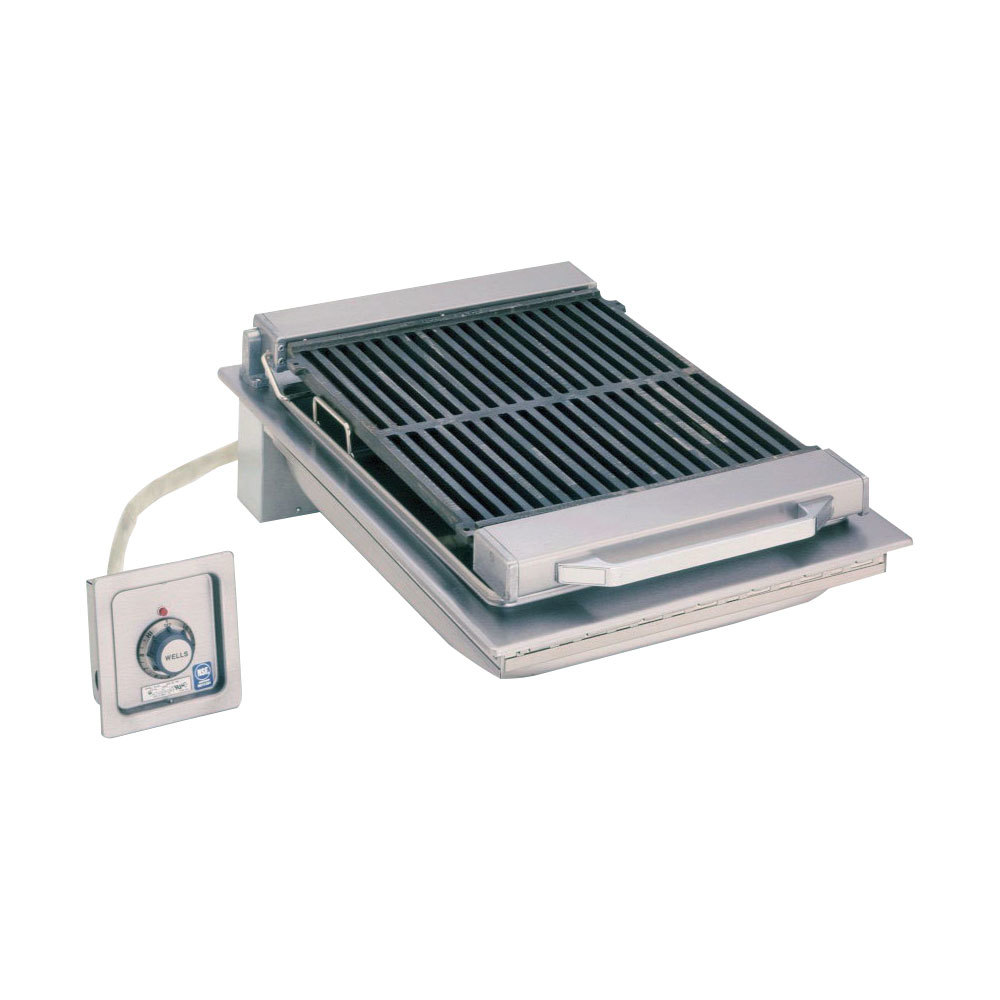 "Wells B-446 20"" Built-In Electric Charbroiler with One Control Knob - 5400W"