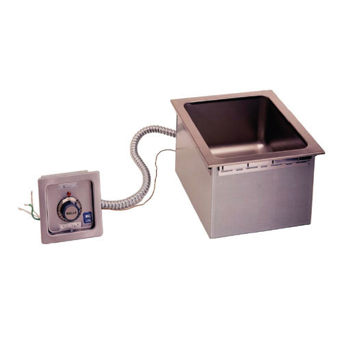 Wells HSW6D Half Size 1 Pan Drop-In Hot Food Well with Drain and Wellslok - Top Mount, Thermostat Control