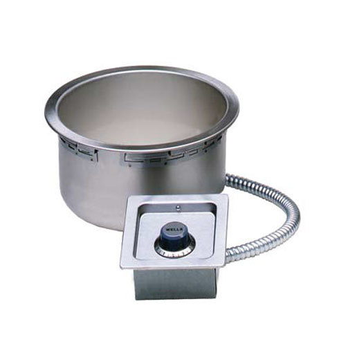 Wells SS10TDU 11 Qt. Round Drop-In Soup Well with Drain - Top Mount, Thermostatic Control