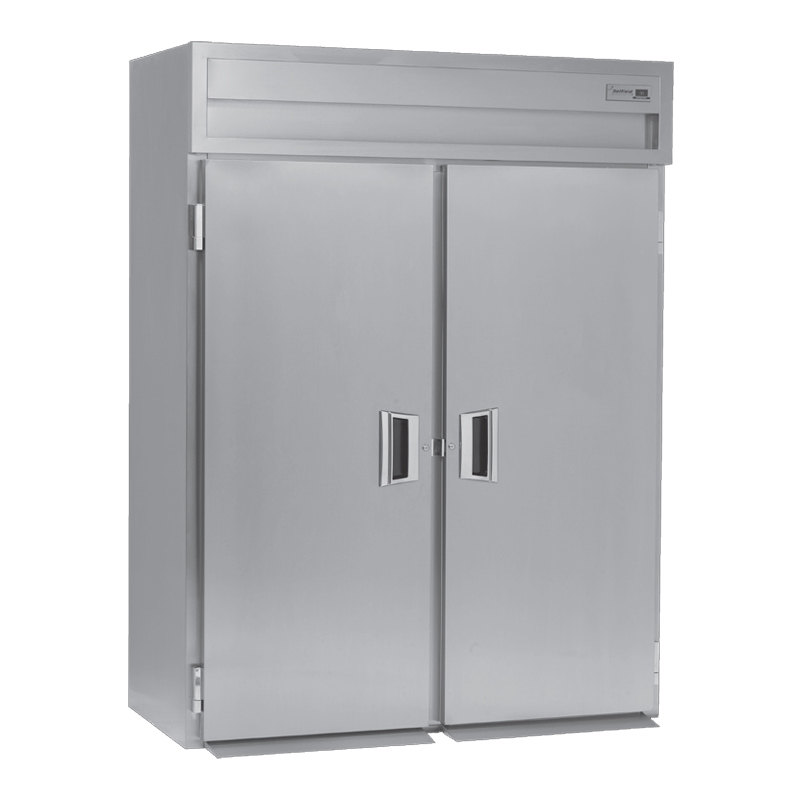 Delfield SMRRT2-S 79.74 Cu. Ft. Two Section Solid Door Roll Thru Refrigerator - Specification Line