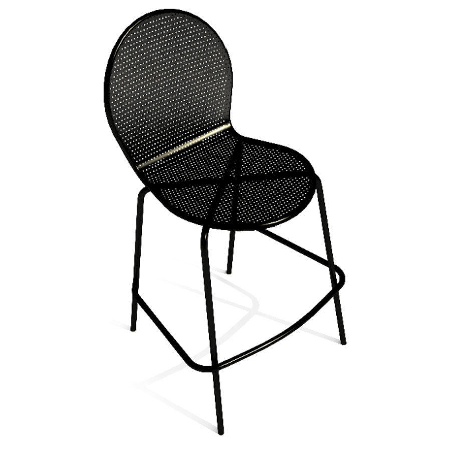 American Tables And Seating 94 Bs Black Mesh Outdoor Bar