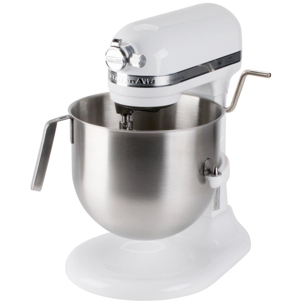 Kitchenaid Ksm8990wh White Nsf 8 Qt Bowl Lift Commercial Stand Mixer 120v 1 3 10