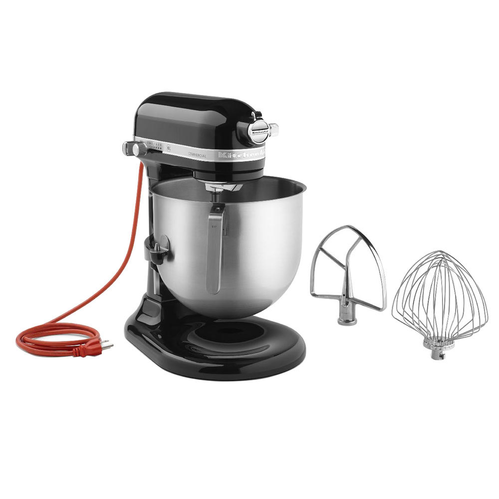 KitchenAid KSM8990OB Onyx Black NSF 8 Qt. Bowl Lift Commercial Stand Mixer ? 120V at Sears.com