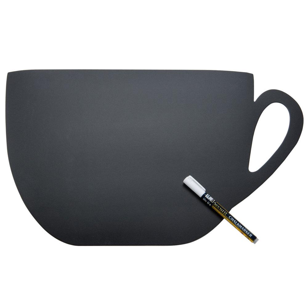 Chalkboard American Metalcraft Fbcup Coffee Cup Silhouette Chalkboard 12 X 19