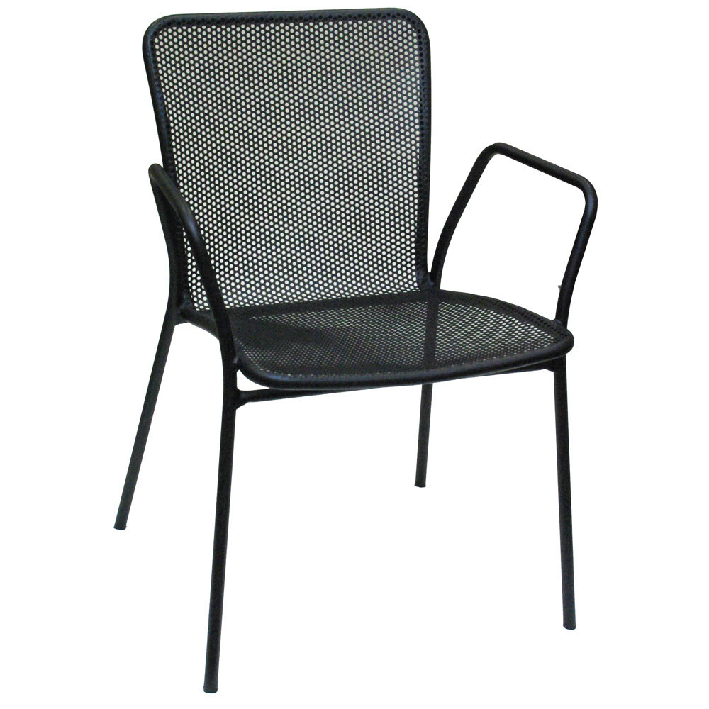 American tables and seating 91 black outdoor chair with arms for Black porch furniture