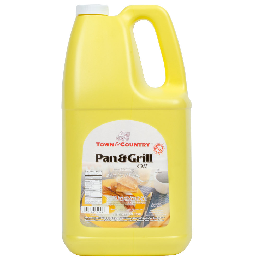 1 Gallon Pan & Grill Cooking Oil - 6/Case