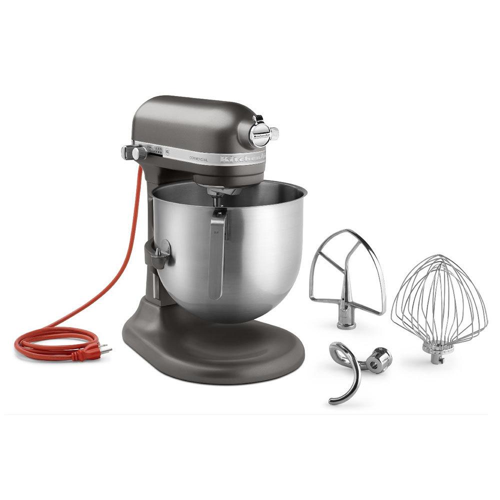Kitchenaid ksm8990dp dark pewter nsf 8 qt bowl lift for Kitchenaid stand mixer