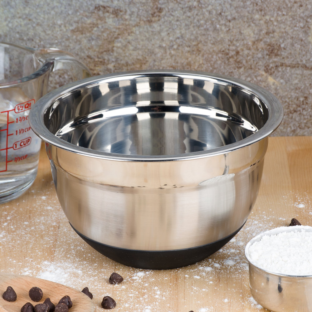1.5 Qt. Heavyweight Stainless Steel Mixing Bowl With Bottom Grip/Non-Slip Base