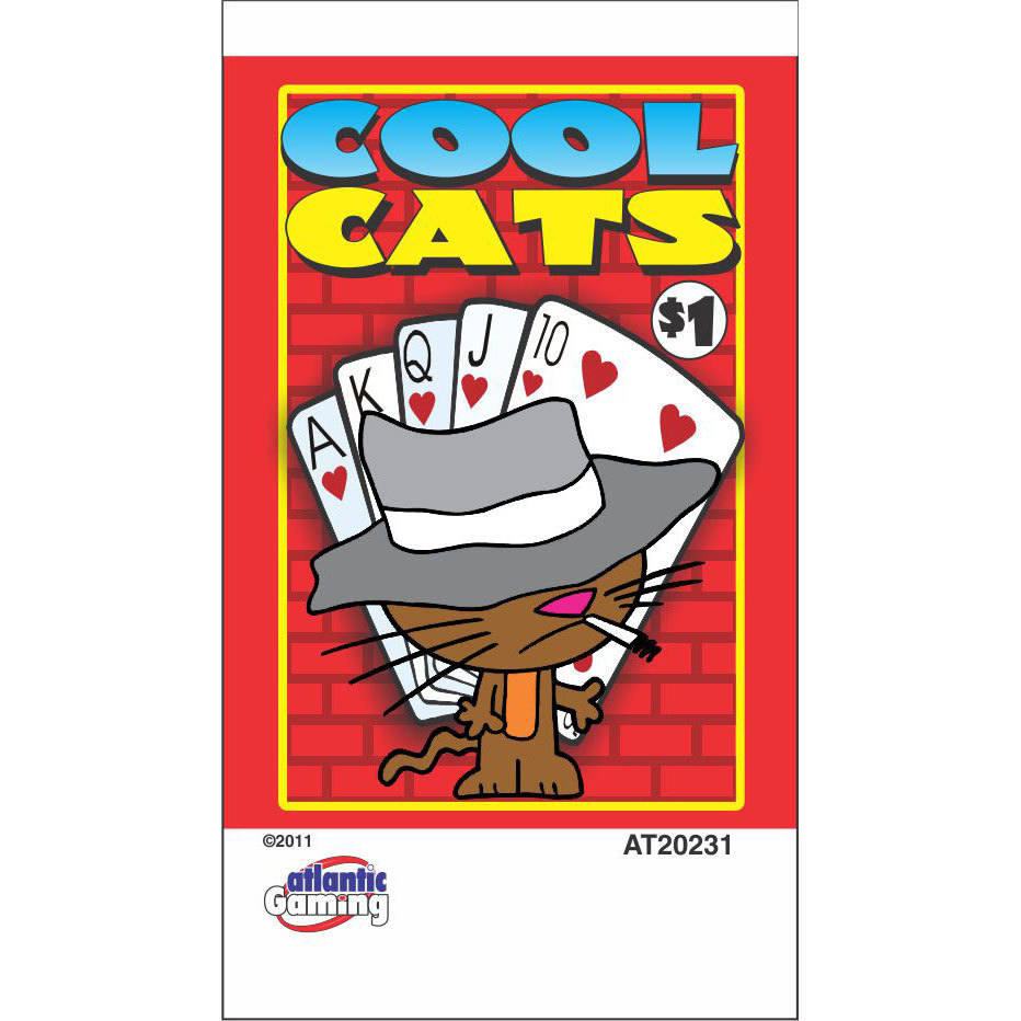 """""""Cool Cats"""" 1 Window Pull Tab Tickets - 120 Tickets Per Deal - Total Payout: $78 at Sears.com"""