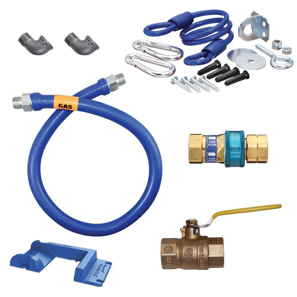 "Dormont 16125KIT48PS Deluxe SnapFast® 48"" Gas Connector Kit with Safety-Set® - 1 1/4"" Diameter"