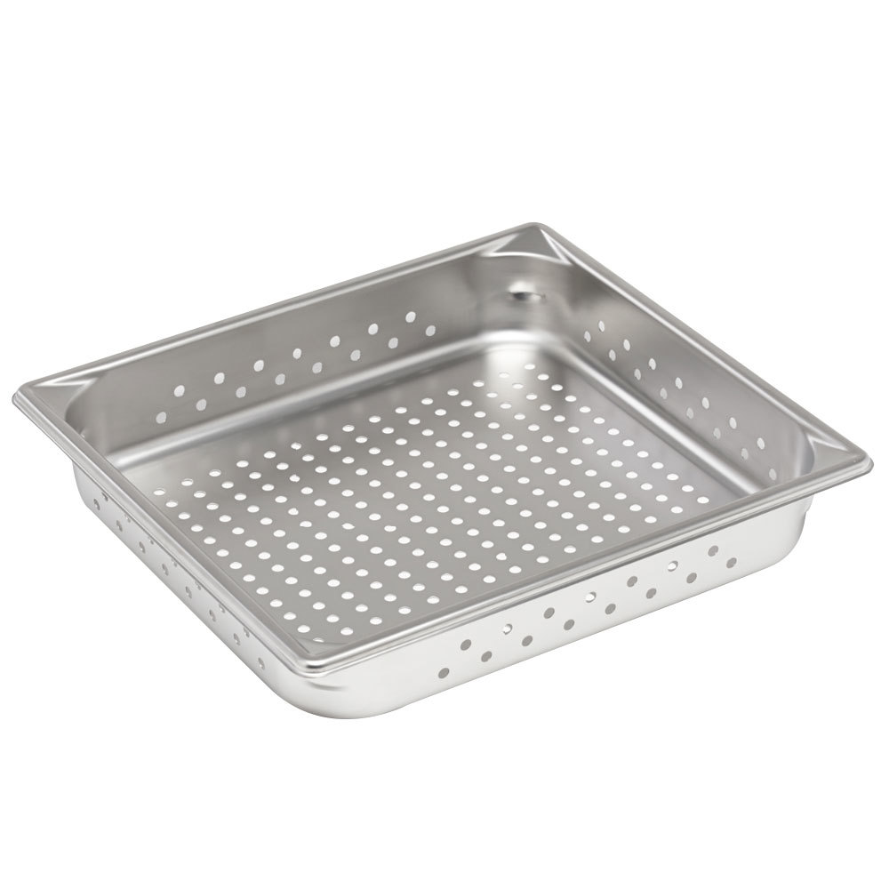 "Vollrath Super Pan V 30123 2/3 Size Anti-Jam Stainless Steel Perforated Steam Table / Hotel Pan - 2 1/2"" Deep"
