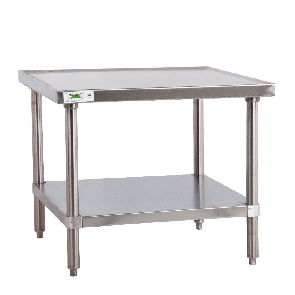 Regency 16 Gauge 30 X 30 Stainless Steel Mixer Table