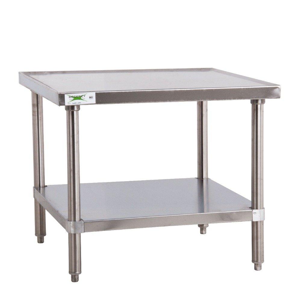 Regency 16 Gauge 30 X 30 Stainless Steel Mixer Table