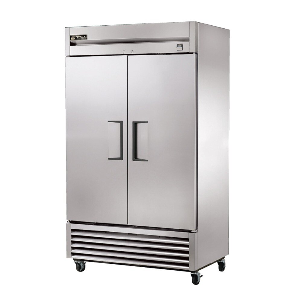 True TS-43 47 inch Stainless Steel Two Section Reach In Refrigerator - 43 Cu. Ft.