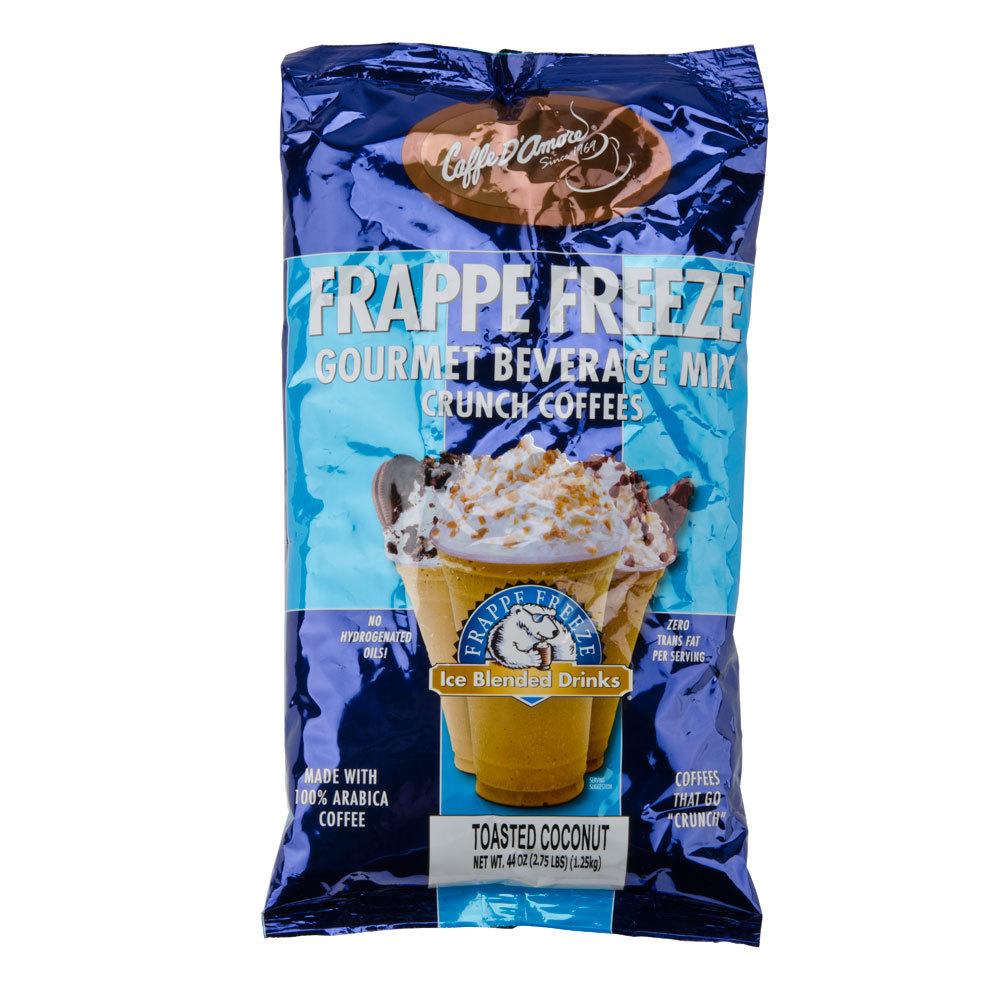 Caffe D'Amore Frappe Freeze Toasted Coconut Crunch Mix - 2.75 lb Bag