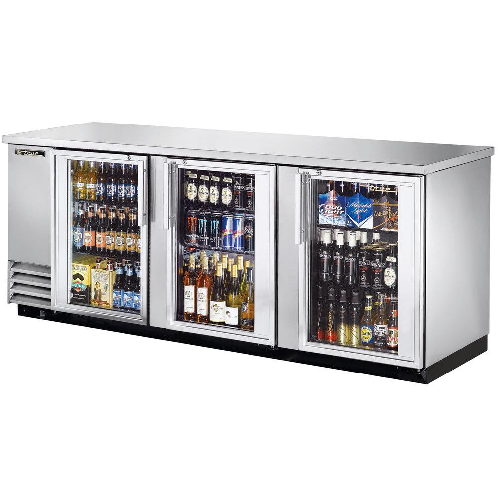 True Tbb 4g S Ld 90 Quot Stainless Steel Glass Door Back Bar