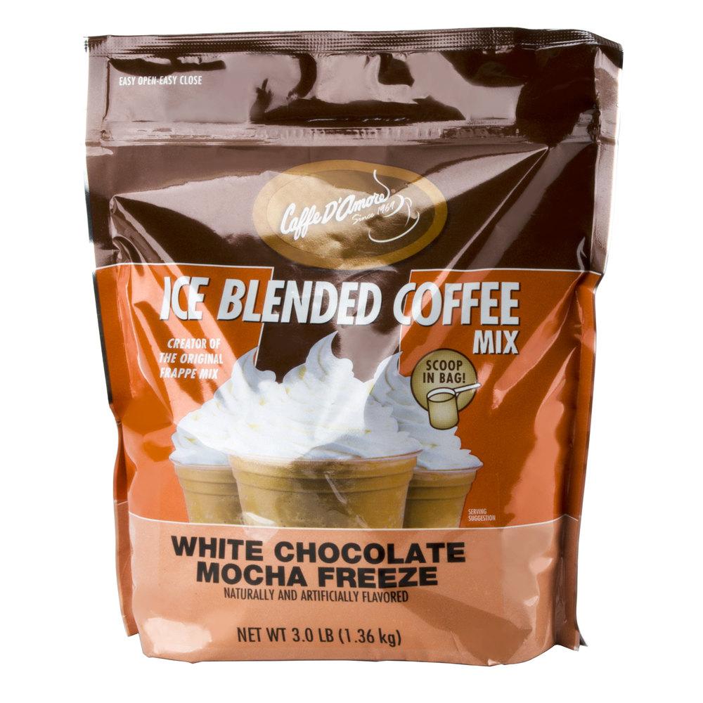 Caffe D'Amore Ready to Use White Chocolate Mocha Freeze - 3 lb Bag