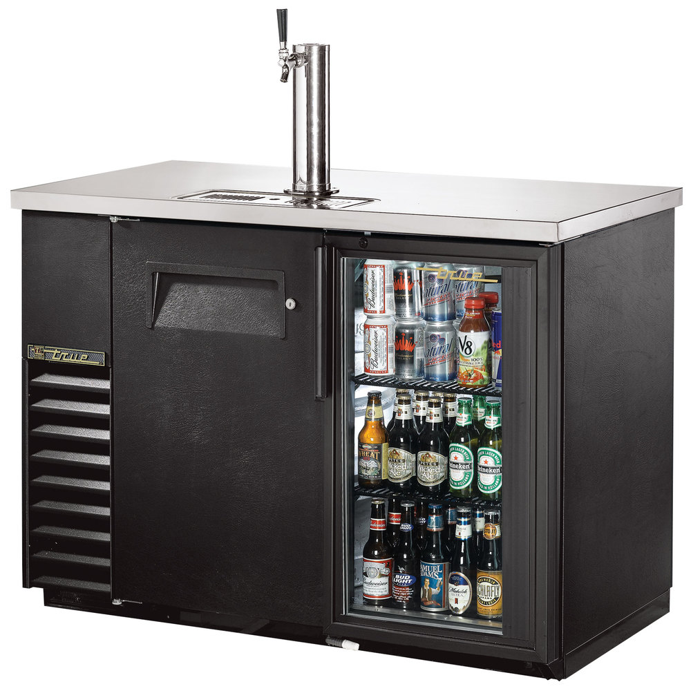 """True TDB-24-48-1-G-1-LD 49"""" Back Bar Refrigerator"""