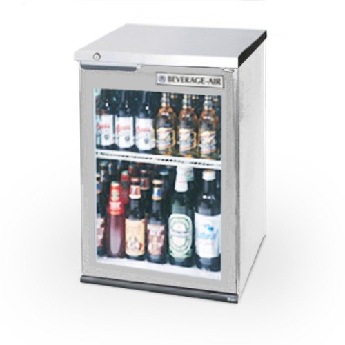 "Beverage Air (Bev Air) BB36GF-1-S-LED 36"" Food Rated Glass Door Back Bar Refrigerator - Stainless Steel with LED Lighting at Sears.com"
