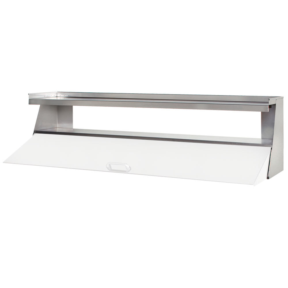 "Beverage Air 00C23-110D Stainless Steel Single Overshelf with Side Guards - 36"" x 14"""