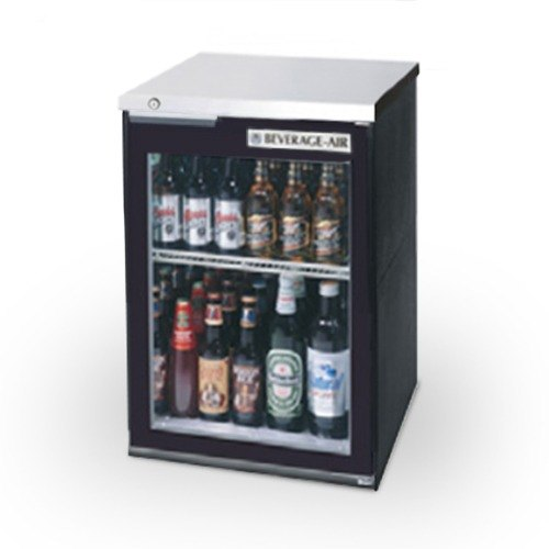 "Beverage Air (Bev Air) BB36GF-1-B-LED 36"" Food Rated Glass Door Back Bar Refrigerator - Black with LED Lighting at Sears.com"