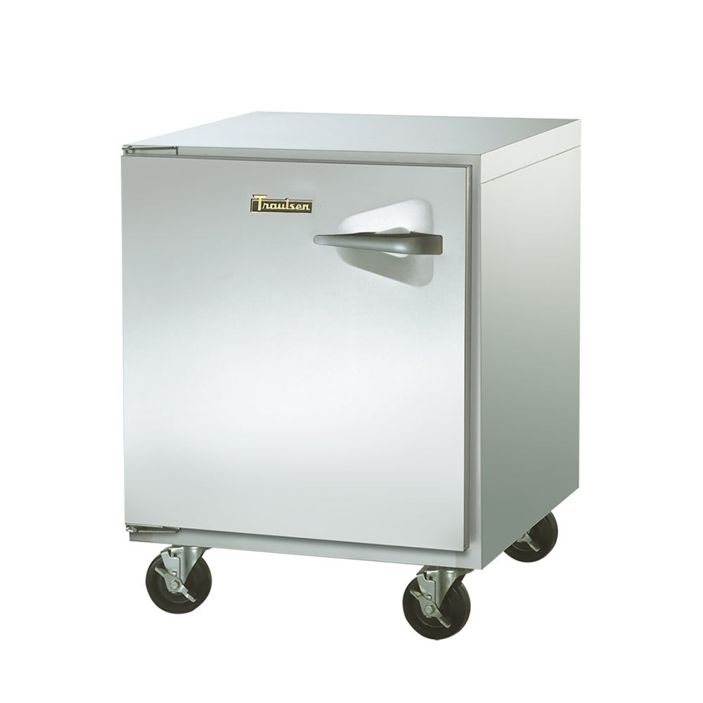 "Traulsen ULT32-L-SB 32"" Undercounter Freezer with Left Hinged Door and Stainless Steel Back - 8.8 Cu. Ft."