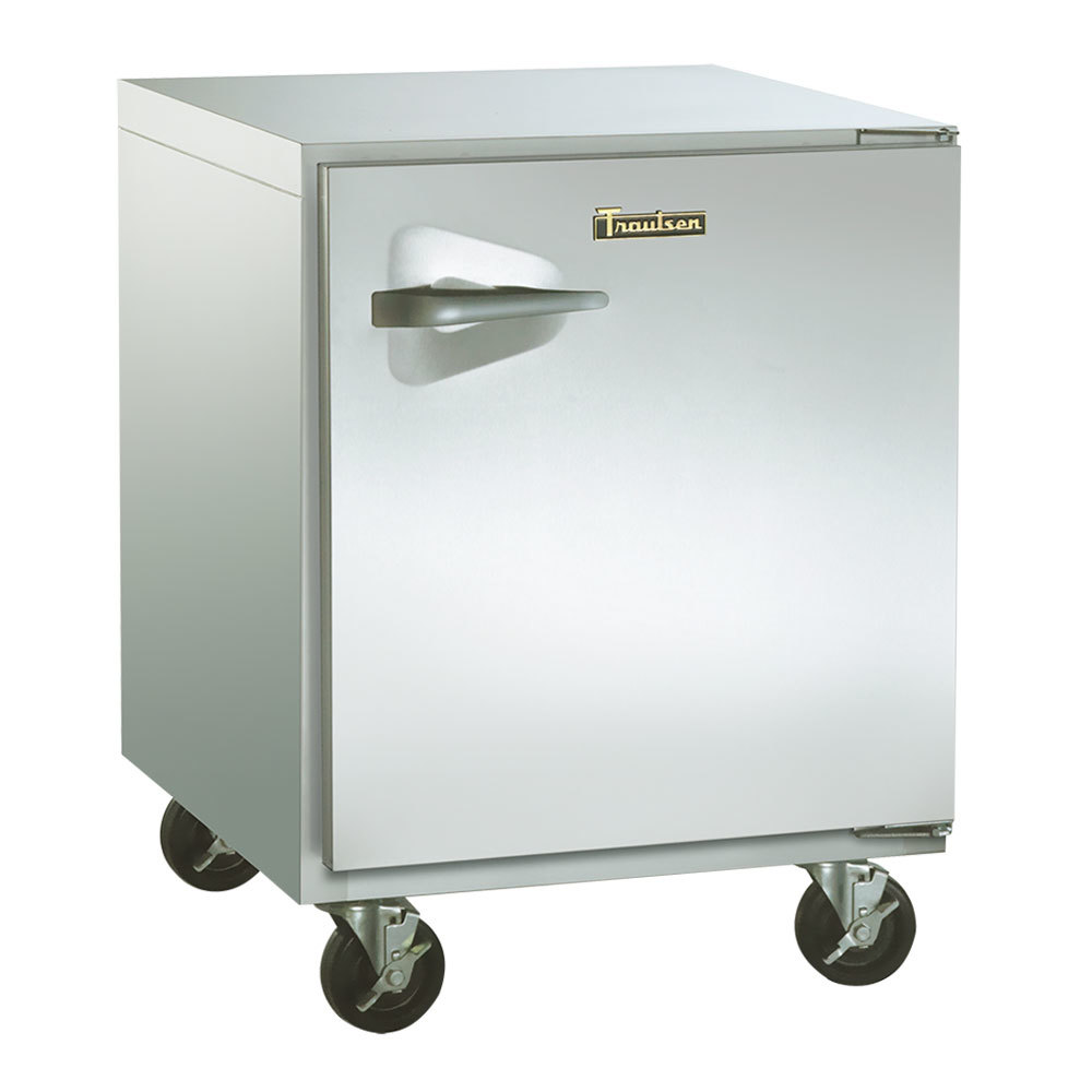 "Traulsen ULT27-R-SB 27"" Undercounter Freezer with Right Hinged Door and Stainless Steel Back - 7.1 Cu. Ft."
