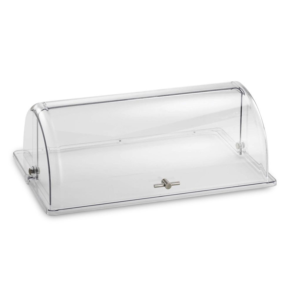 Tablecraft PC1 Rectangular Polycarbonate Roll Top Lid – 21 1/2 inch x 13 1/4 inch x 7 1/2 inch