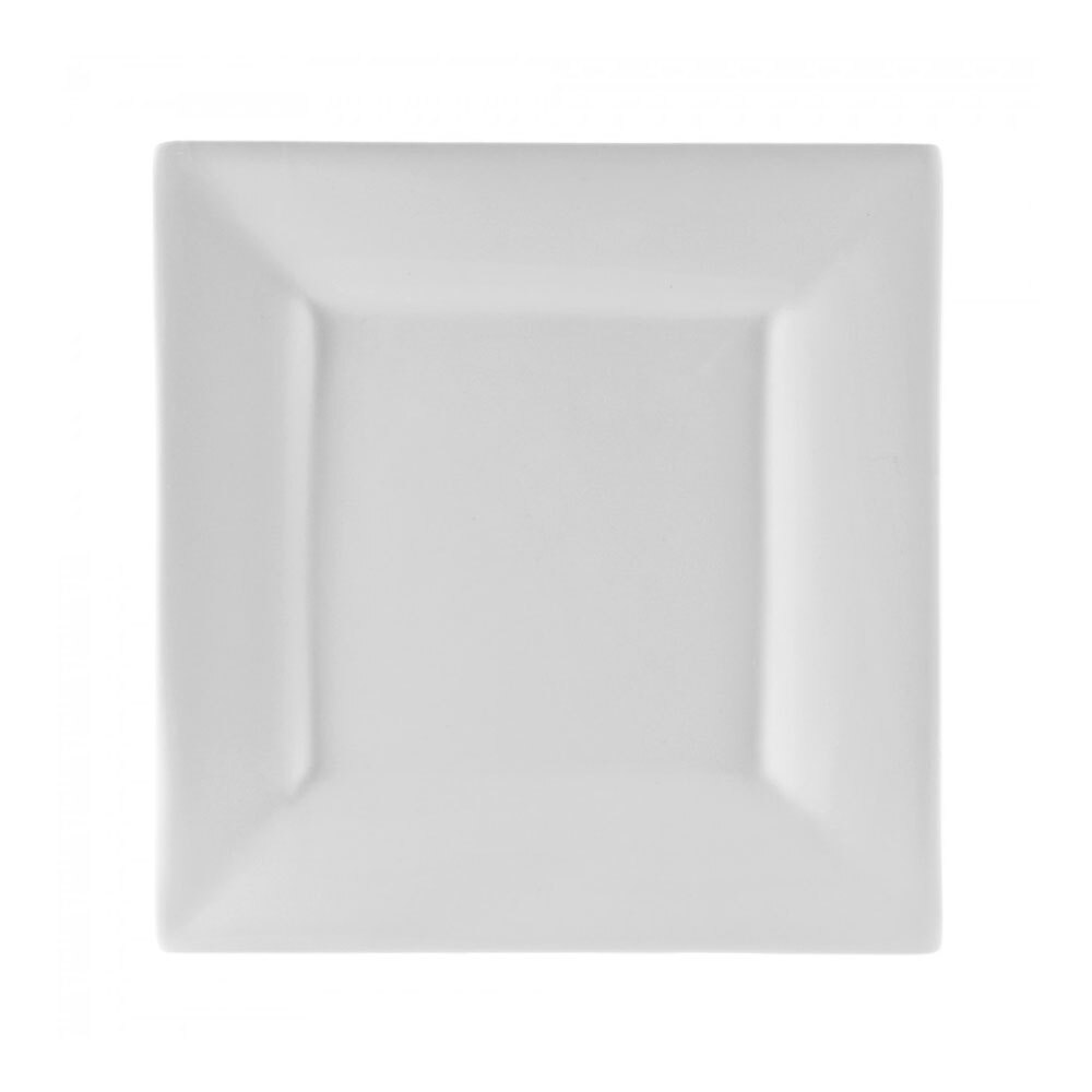 Ten Strawberry Street WTR-12SQ 11 5/8 inch Whittier Square White Charger Plate