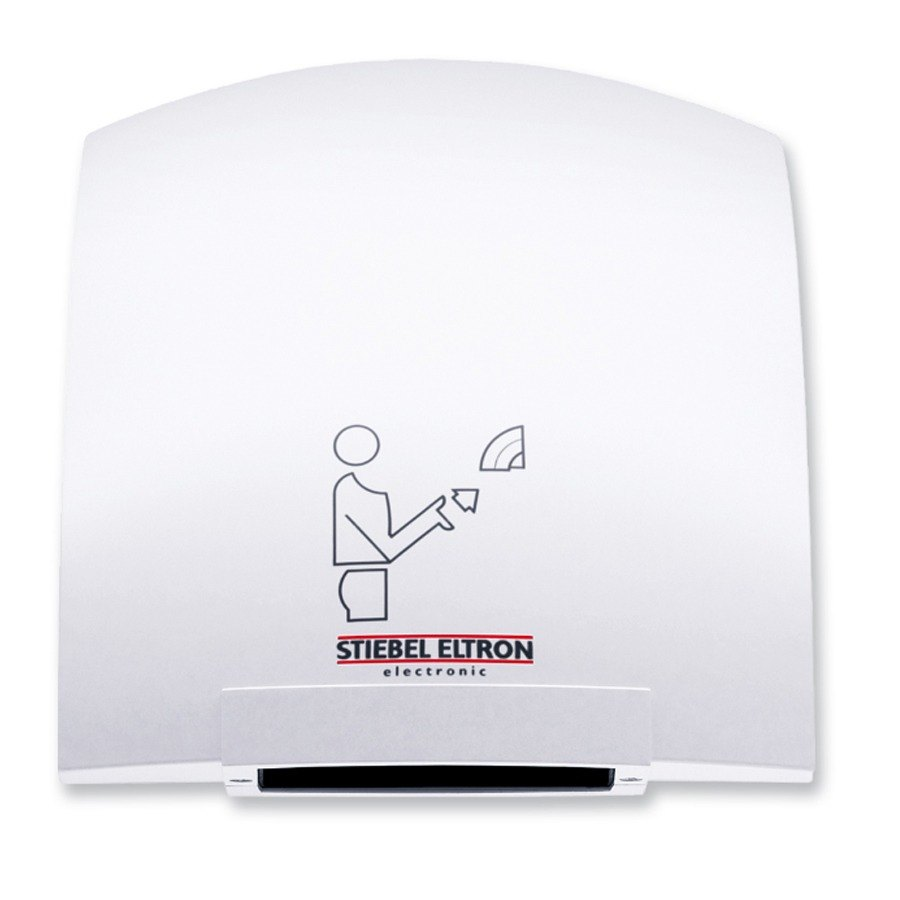 Stiebel Eltron 073724 Galaxy M 1 Ultra Quiet Automatic Hand Dryer with Cast Aluminum Housing (Alpine White Finish) - 120V, 1850W