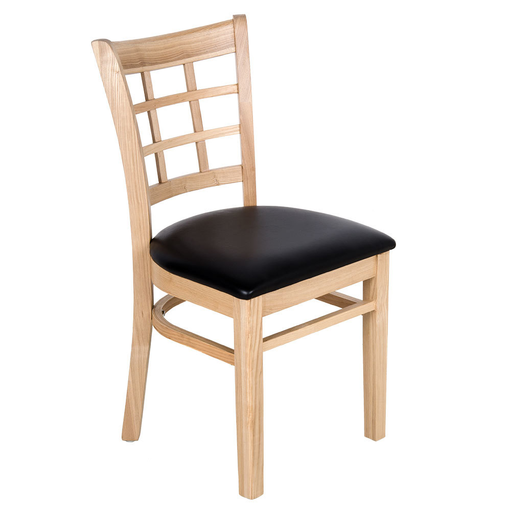 Lancaster table seating natural wooden window back chair for 108 table seats how many