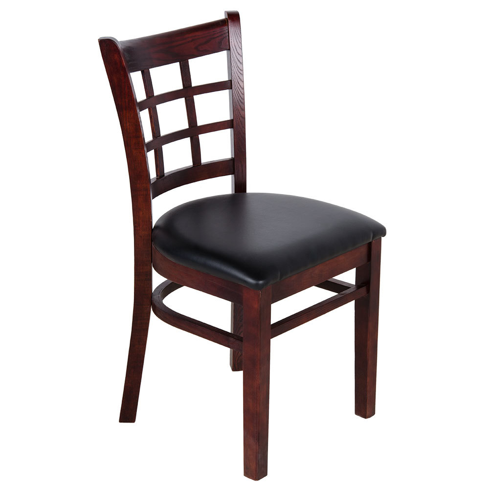 lancaster table seating mahogany wooden window back chair with 1 1 2